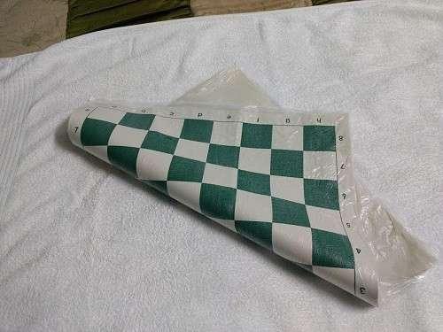 Tablero de ajedrez enrollable de 50x50 cm color verde - 3