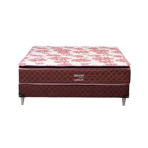 Base y colchón sommier Sueñolar Silverlar bordo 140x190 pillow top - 0