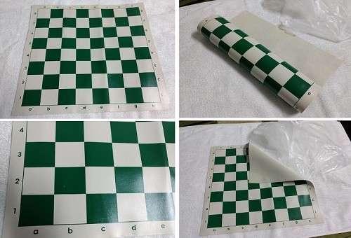 Tablero de ajedrez enrollable de 50x50 cm color verde - 0