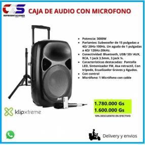 Caja de audio con micrófono