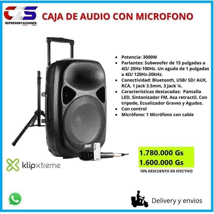 Caja de audio con micrófono - 0