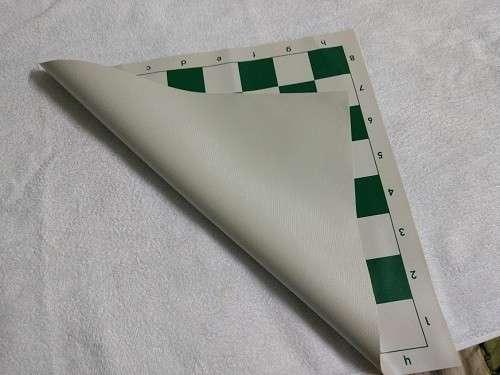 Tablero de ajedrez enrollable de 50x50 cm color verde - 2