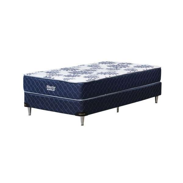 Base y colchón sommier Sueñolar Silverlar azul 120x190 - 1