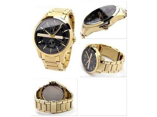Reloj masculino armani exchange dorado - 1