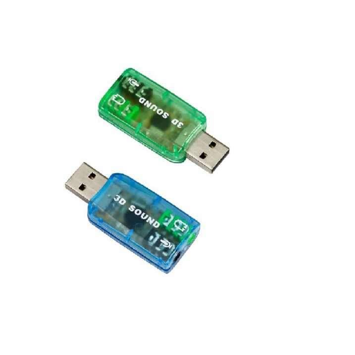 Adaptador USB para audio y micrófono tarjeta de sonido USB - 5