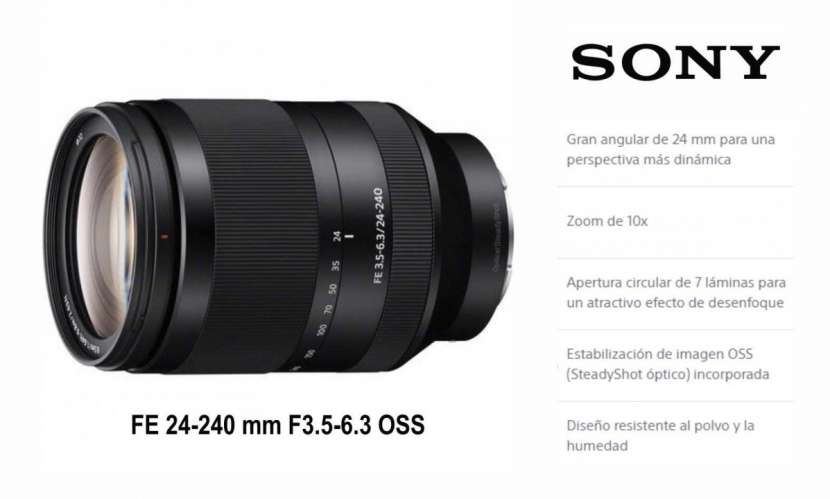 Lente Sony FE 24-240mm - 0