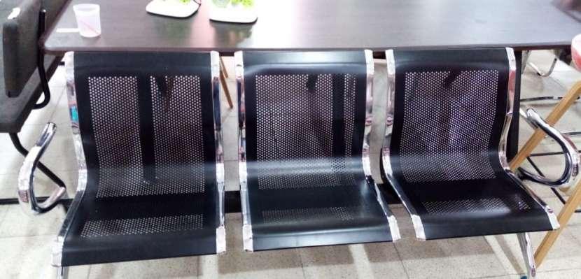 Silla tándem de espera 3 lugares metálico - 2