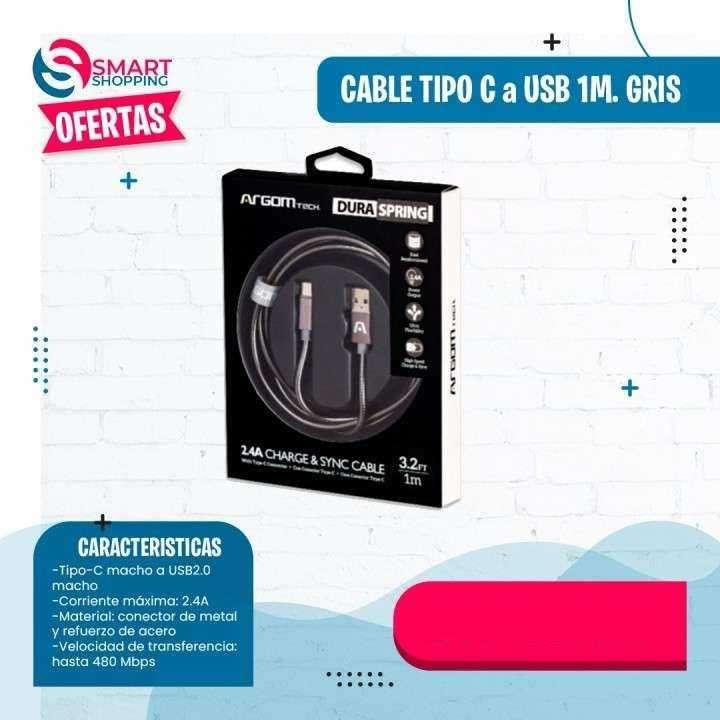 Cable tipo C a USB de 1M - 0