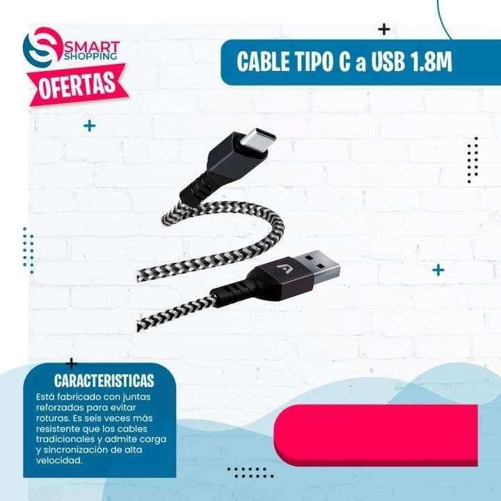 Cable tipo C a USB de 1.8 metros - 0