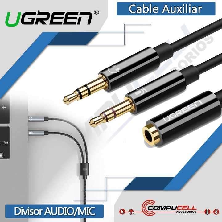Cable Auxiliar UGreen divisor de audio y micrófono - 0