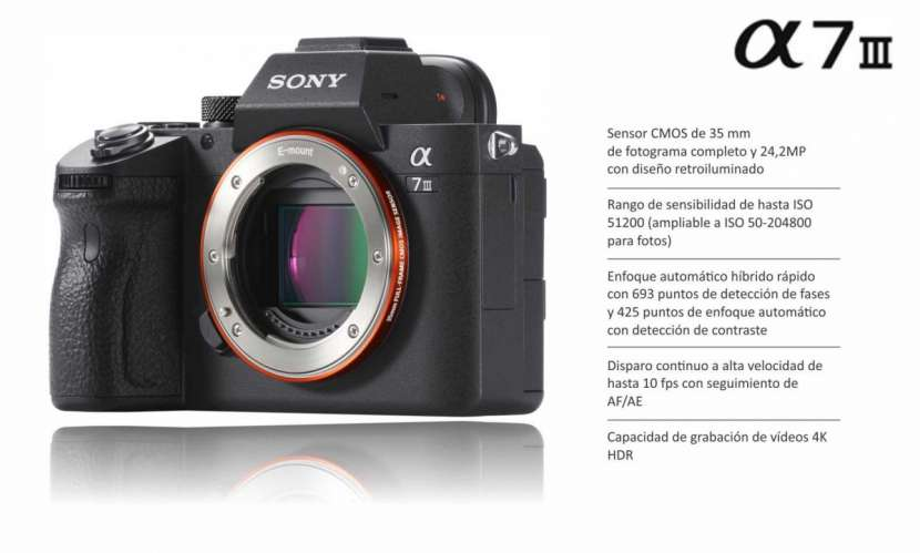 Cámara Sony A7 III Cuerpo - 0