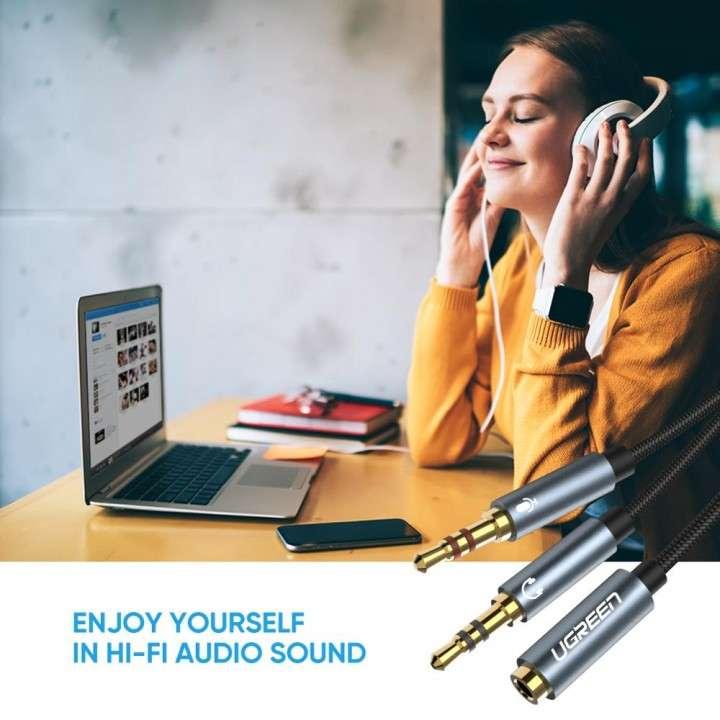Cable Auxiliar UGreen divisor de audio y micrófono - 4