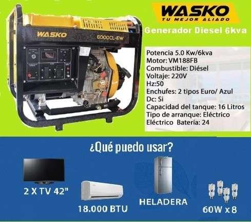 Generador eléctrico diésel 6KVA - 0