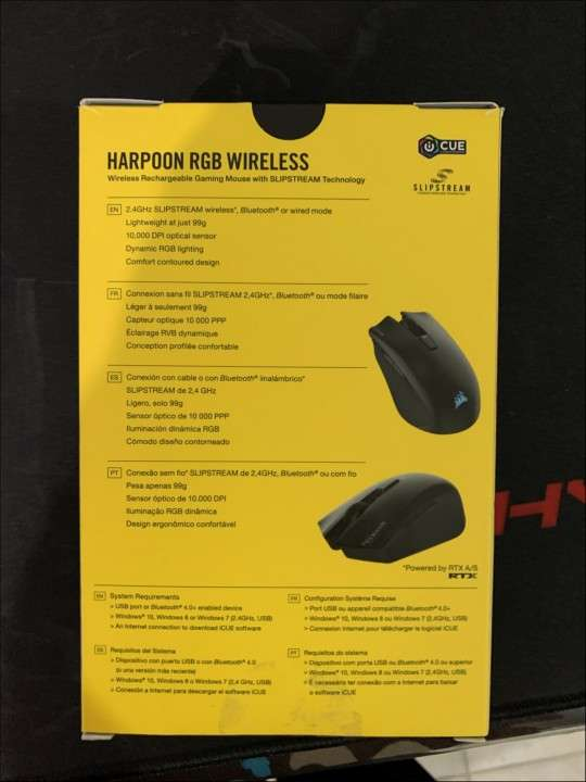 Mouse gamer Corsair Harpoon RGB wireless - 1