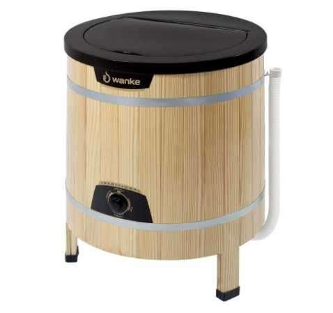 Lavarropa Wanke semi automático 5 kg madera claro - 0
