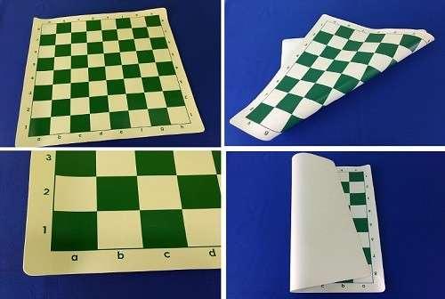 Tablero enrollable de ajedrez de 43x43 cm color verde - 0