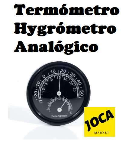 Termómetro Higrómetro Analógico - 0