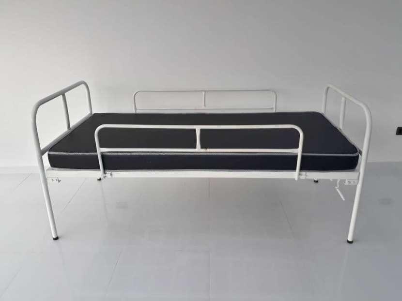 Cama articulable de 2 manual con colchón - 0