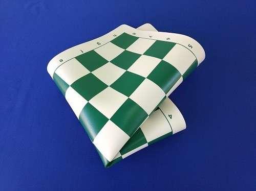 Tablero enrollable de ajedrez de 43x43 cm color verde - 2