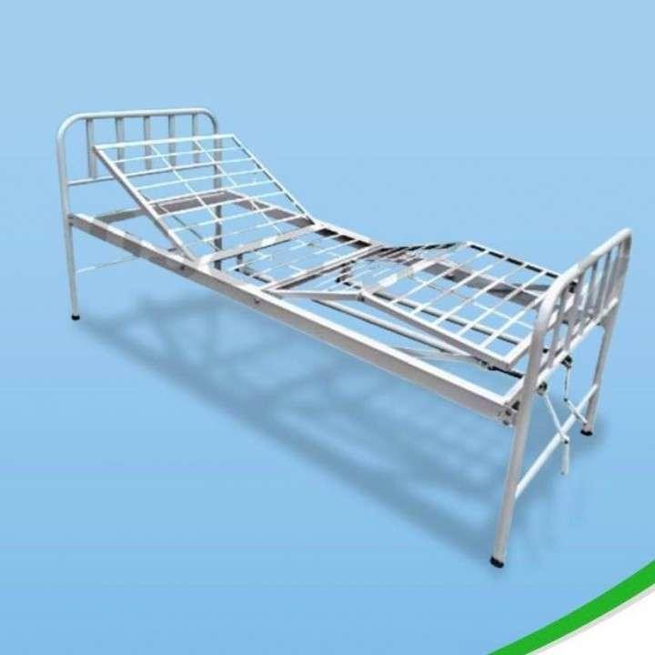 Cama articulable de 2 manual con colchón - 1