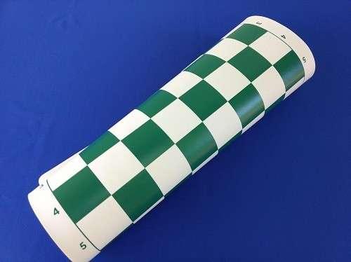 Tablero enrollable de ajedrez de 43x43 cm color verde - 1