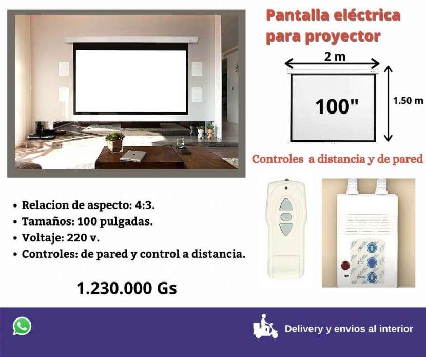 Pantalla eléctrica para proyectar - 0