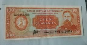 Billetes antiguo del Paraguay