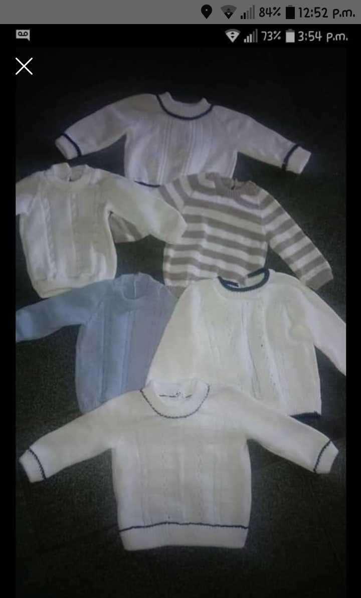 Batitas para bebé en hilo de algodón - 1