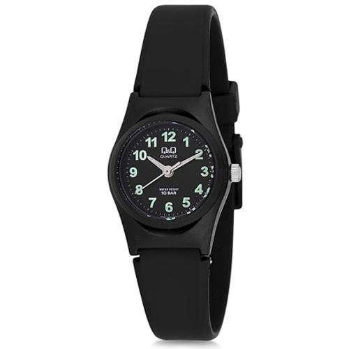 Reloj analógico para mujer con correa de silicona negro Q&Q VQ87J008Y - 0