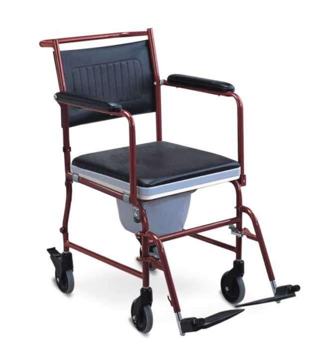 Silla de ruedas sanitaria con ruedas para mujer - 0