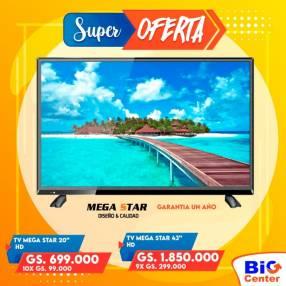 TV Mega Star de 43 pulgadas HD