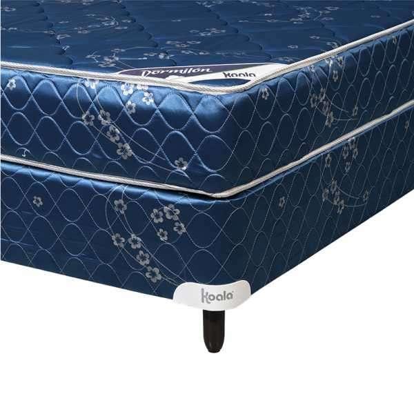 Base y colchón sommier Koala Dormilon sin pillow 140x190 cm azul - 1