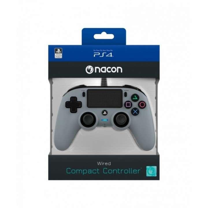Control Nacon Wired Compact Controller para PS4 gris - 1