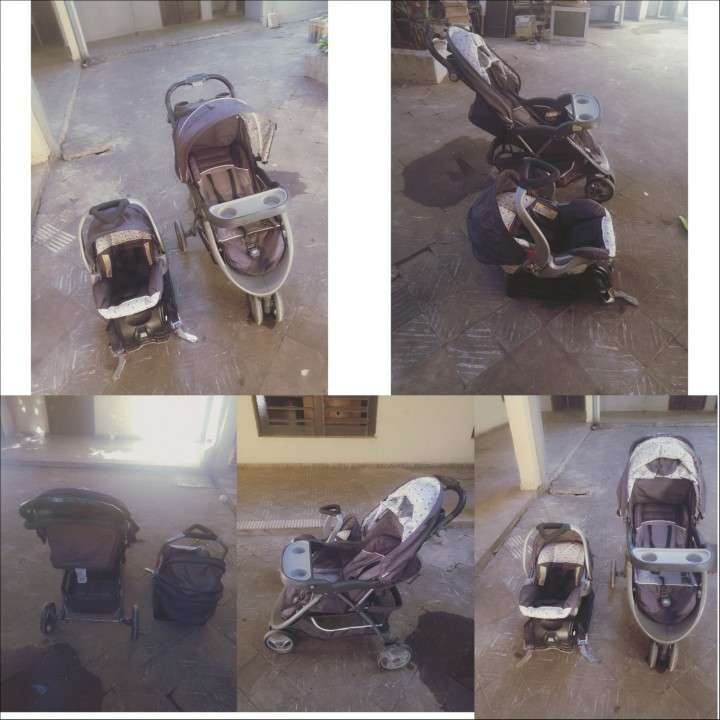 Carrito desplegable baby trend más baby seat con soporte - 0