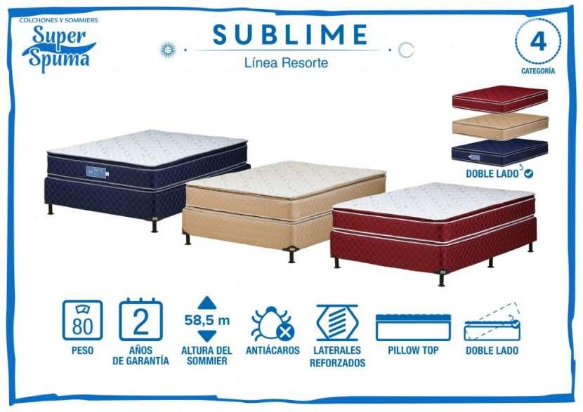 Base más colchón sublime Super Spuma 80 Kg 1,40x1,90 - 0