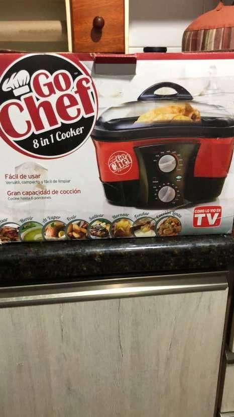 Fritadora eléctrica 8 en 1 Go Chef - 0