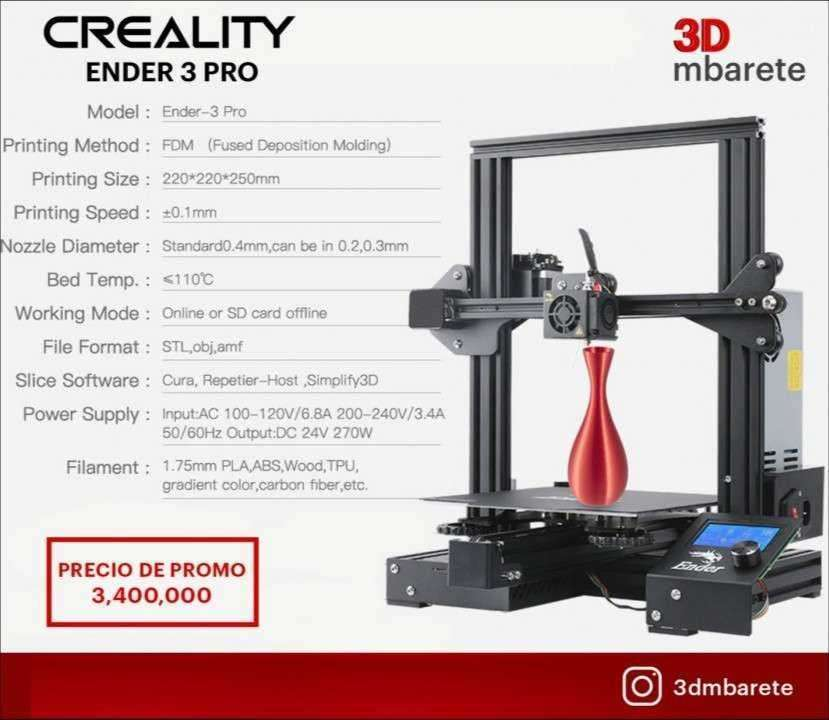 Impresora 3D Creality Ender 3 Pro - 0