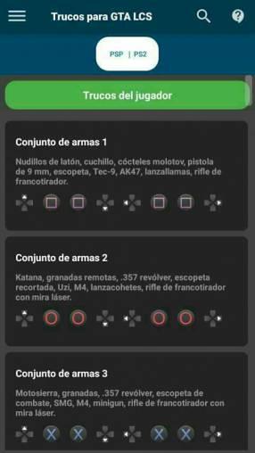 Todos los trucos para GTA San Andreas para ps2 psp pc Xbox 360 One
