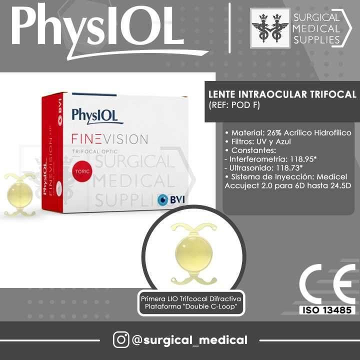 Lente intraocular trifocal - 0