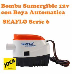 Bomba sumergible 12V con boya automática encendido/apagado