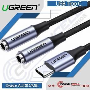 Adaptador auricular audio y micrófono a USB Tipo-C