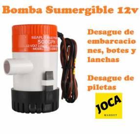 Bomba sumergible 12V para embarcaciones botes lanchas