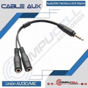 Cable auxiliar audio/MIC a auxiliar