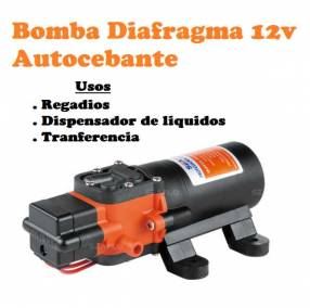 Bomba autocebante 12V para autocaravana casa rodante