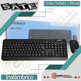 Combo teclado + mouse inalámbrico SATE AK-725G