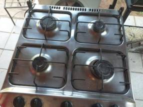 Cocina Whirlpool 4 hornallas tapa blindex