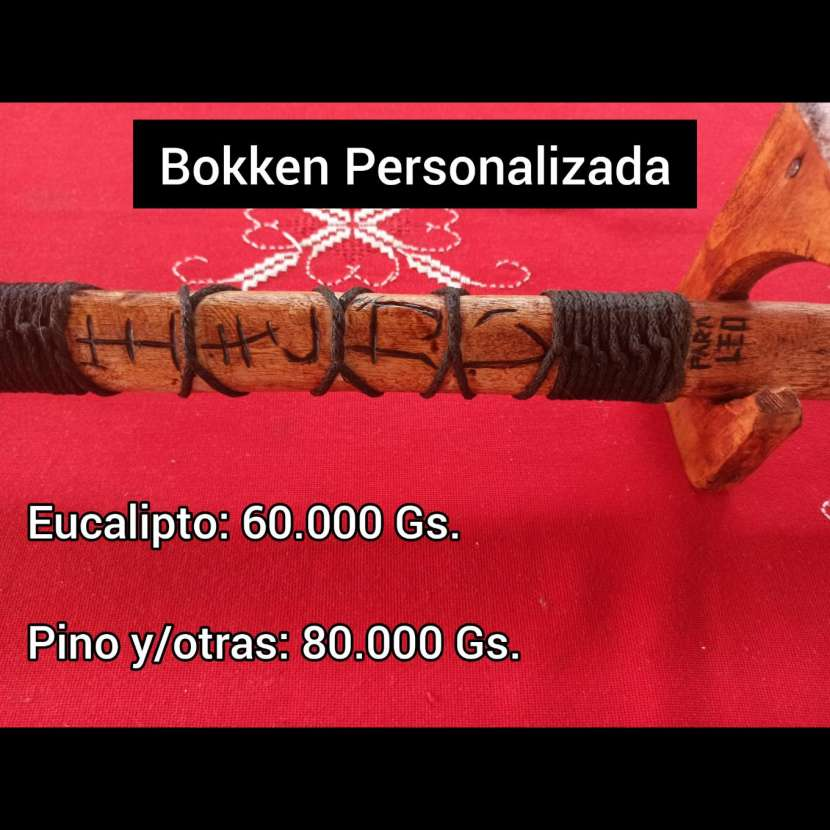 Espada de madera Bokken Personalizada - 0