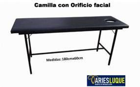 Camilla para masaje fijo y plegable portátil