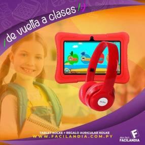 Tablet kolke kids + regalo auricular kolke