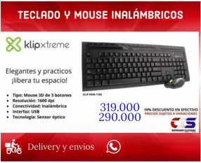 Teclado y mouse inalámbricos